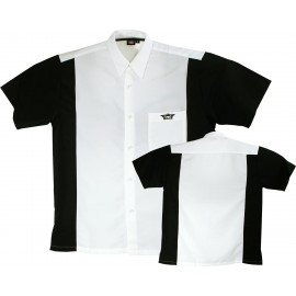Dart Shirt White-Black