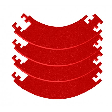 Composable darts boards protection ring – Red