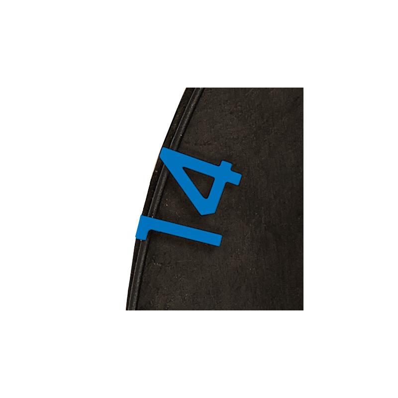 Numeri bersaglio HD2 blu