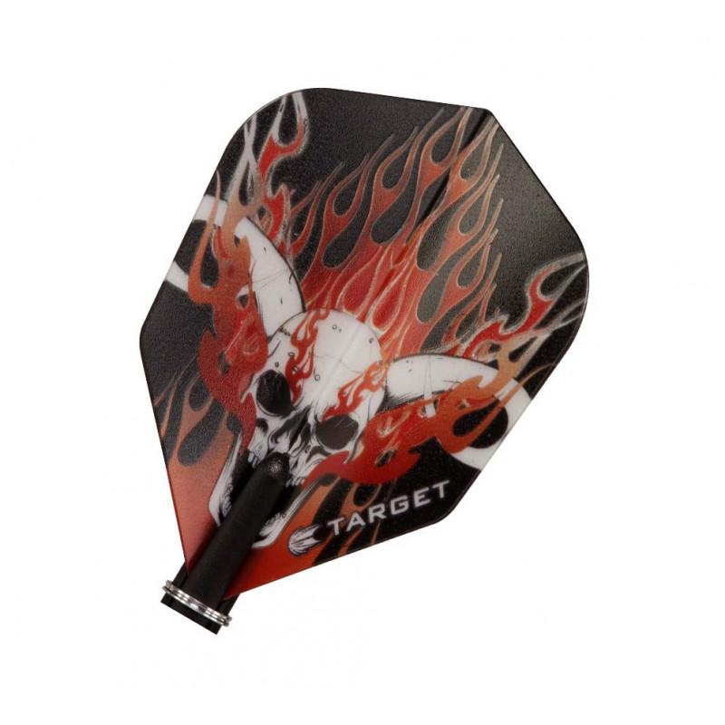 Vision Red Hornet Skull - 1x3 - 118100