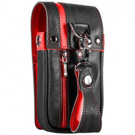 Daytona Wallet in Black and Red leather